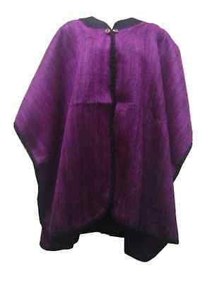 Wholesale Lot Of 10 Soft & Beautiful Alpaca Cape With Two Buttons