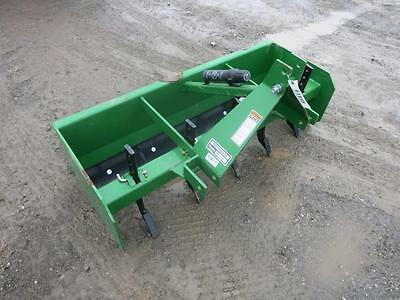 Frontier 5' Box Blade For Tractors, UNUSED!!, 3 Point Hook Up, 5 Scarfier Shanks