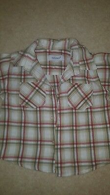 Boys checked shorts sleeve shirt. 18-23 months