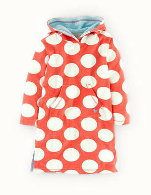 New Mini Boden Red Spotted Towelling Hoody 18-24 m 4-5 5-6 7-8 9-10 11-12 years