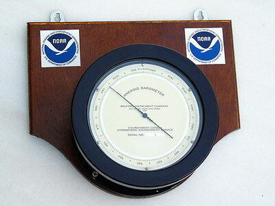 Large Belfort Instrument Company Ships Naval Marine Aneroid Noaa Boat Barometer