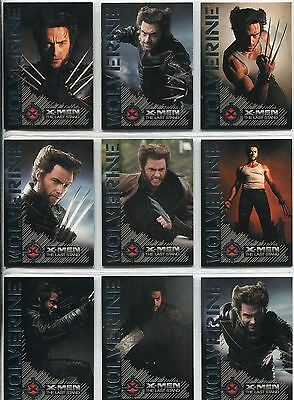 X Men 3 The Final Stand Complete Wolverine Portrait Of A  Chase Card Set W1-9