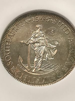 South Africa 1945 Proof Shilling NGC PF64