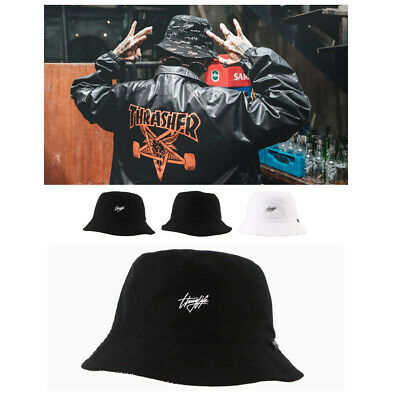 XL 60Cm Mens Flipper Thuglife Reversible Bucket Bowler Boonie Cap Outdoor Hats