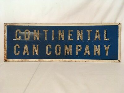 """Rare Vintage Continental Can Co Sign Metal Advertising Gas Oil Beer Can 27"""""""