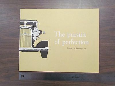 "Vintage 1959 Lincoln ""Pursuit of Perfection"" History Catalog / Brochure (Color)"
