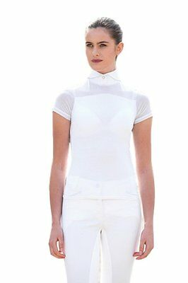 Horseware Ladies Emma Pique Short Sleeve Competition Top, White XS