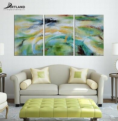 """Canvas Oil Painting Hand Painted Wall Art  """"Abstract Bright Color Tone""""——ARTLAND"""