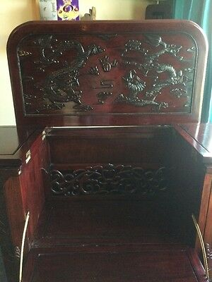 Antique Chinese Carved Drinks Cabinet