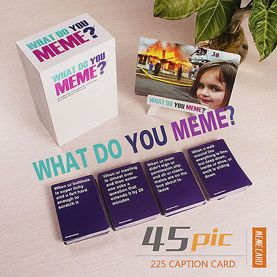 Hot What Do You Meme? Funny Party card games Board game 45 pic +227 caption card