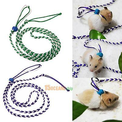 Pet Hamster Cage Leash Adjustable Rat Ferret Squirrel Mouse Harness Rope Leash