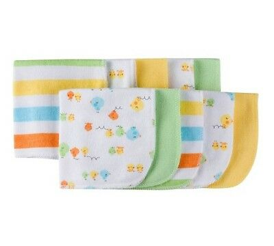 Gerber Boy or Girl Unisex 10-Pack Chicks Terry Washcloths BABY CLOTHES GIFT