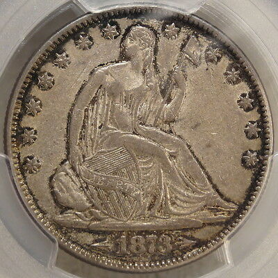 1873 Arrows Seated Liberty Half Dollar,  WB-107, Small Arrows, ONLY PCGS Coin