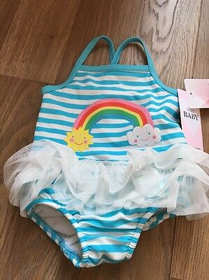 M&S Swimsuit 6-9 Months With Integrated Nappy