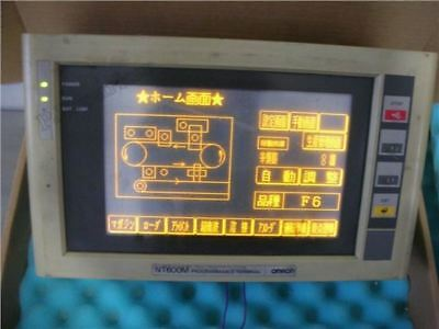 Used 1Pcs Omron NT600M-DT211 With NT600M-LB121 Plc Module ow