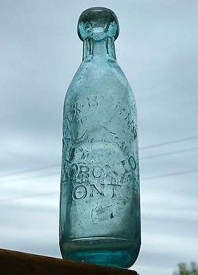 Antique Toronto, Ontario blob top soda bottle 'BEAVER - BURNS' BIMAL* FREE SHIP!