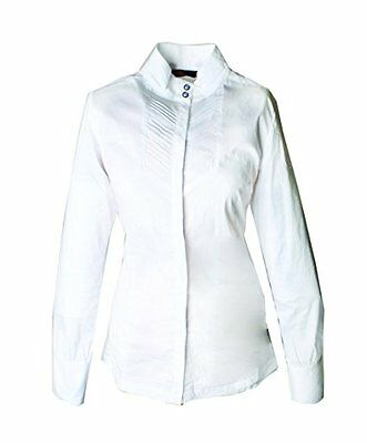 Horseware Girls Competition Shirt Long Sleeve White 9-10yrs