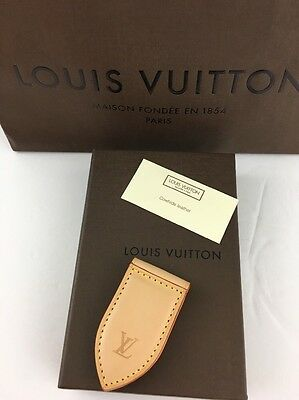 NEW - LOUIS VUITTON LEATHER MONEY CLIP - NIB - Great Father's Day Gift!