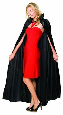 Rubies Long Crushed Velvet Hooded Cape Adult Womens Halloween Costume 16207