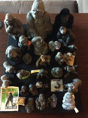 Lot of 30 Small Gorilla Statues Figurines Collectibles