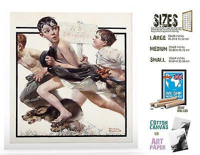 American Print  Norman Rockwell No Swimming