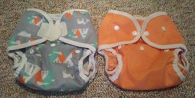 Thirsties Duo Wrap Woodland Mountain Range Orange Cloth Diaper Covers Lot Size 2