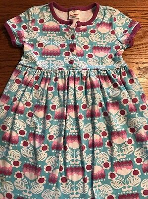 Hanna Andersson Girls Size 120, 6X-7 Floral Print Short Sleeve Dress