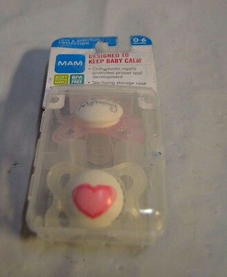 MAM 2 Pacifiers Designed To Keep Baby Calm 0-6 Months