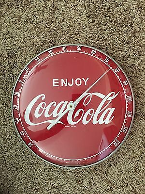 Vintage Original 1950's Coca Cola Thermometer Working Mint Condition