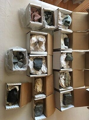 Lot of 13 Boxes of Rock/Mineral Specimens In The BOX - LOT 2