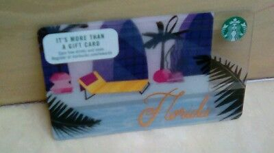 Starbucks Florida Gift Card Issued 2017  Collectible Limited HTF  61136 Series