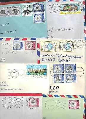 SAUDI ARABIA 1980's COLLECTION OF 14 COVERS TO US W/MACHINE DUPLEX CANCELS SEVER
