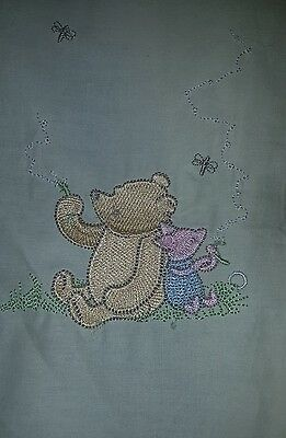 Winnie the Pooh Pale Yellow Nappy Stacker & Matching Material Lamp Shade