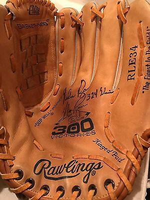 Nolan Ryan Signed Glove RLE34 300 Wins Edition Signed 324 Wins