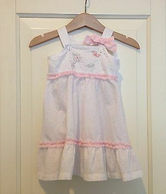 Bebe by Minihaha baby girl's dress size 6 months (0) EUC