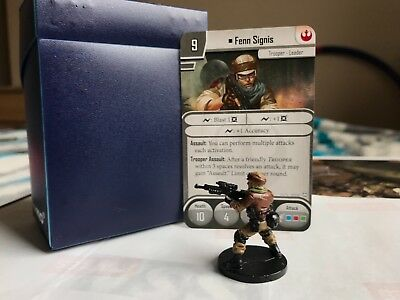 Star Wars Imperial Assault - Fenn Signis Painted Figure and Cards