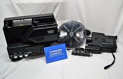 CHINON Sound SP-330MV Super 8 Movie/Film Projector & Video Recorder in Box Works