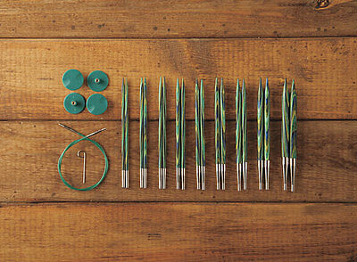 Options Interchangeable Caspian Wood Circular Knitting Needle Set FREE cable