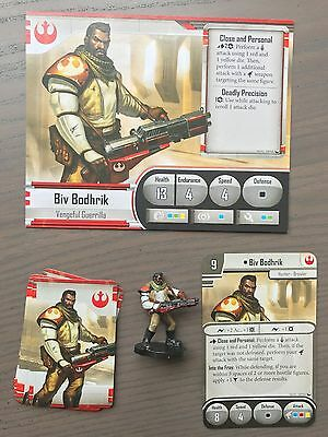 Star Wars Imperial Assault - Biv Bodhrik Painted Figure and Cards