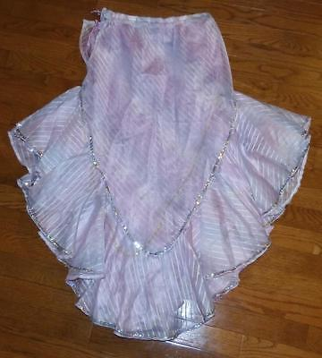 Belly Dance Costume VEST & Double SKIRT SET size S Small