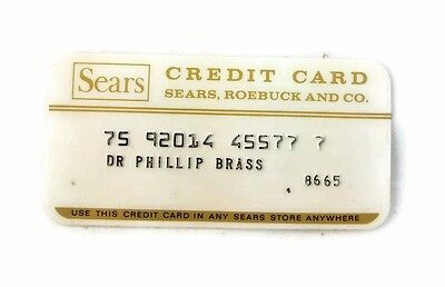 Vintage 70's Sears Roebuck Store Credit Card Charge Card