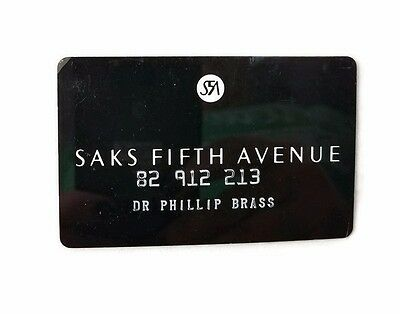 Vintage 70's Saks Fifth Avenue Store Credit Card Charge Card