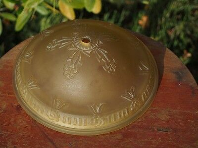 Antique Round Center Shade For Art Deco Hanging Lamp