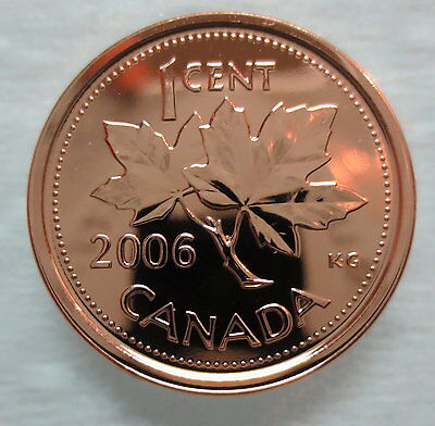 2006P Canada 1 Cent Steel Proof-Like Magnetic Penny - A