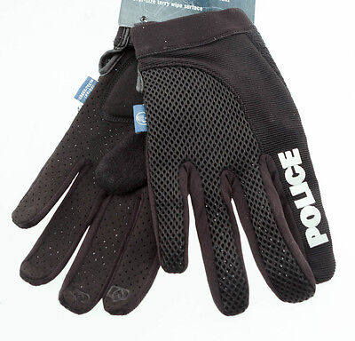 SPENCO POLICE X-Small Cycling Black Bike Gel Padded Full Finger Gloves NEW