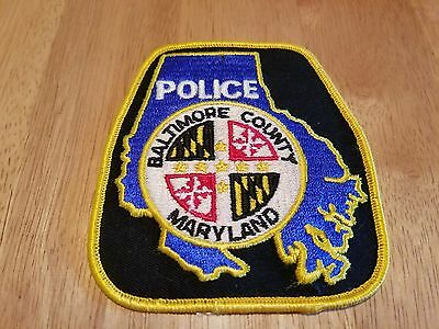 """Baltimore County Maryland Police 4 X 4 1/2"""" Patch, New"""