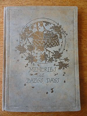 ANTIQUE Baby BIRTH RECORD Book~1923 CR Gibson & Company NY unused w/ gold leaf