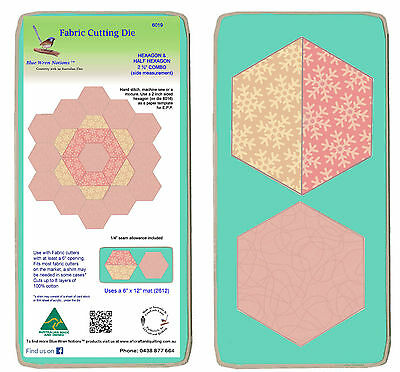 Hexagon 2.5 sides and Half Hex Combo - 6019 Mat included (2612) fabric dies