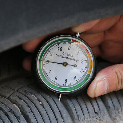 Stainless Steel Tire Tyre Pressure Tread Depth Gauge Pointer Indicator Creative