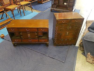 Antique Korean Chest (Right Side Of Photo)